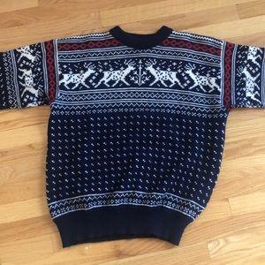 EUC Wool Reindeer Holiday Christmas Sweater